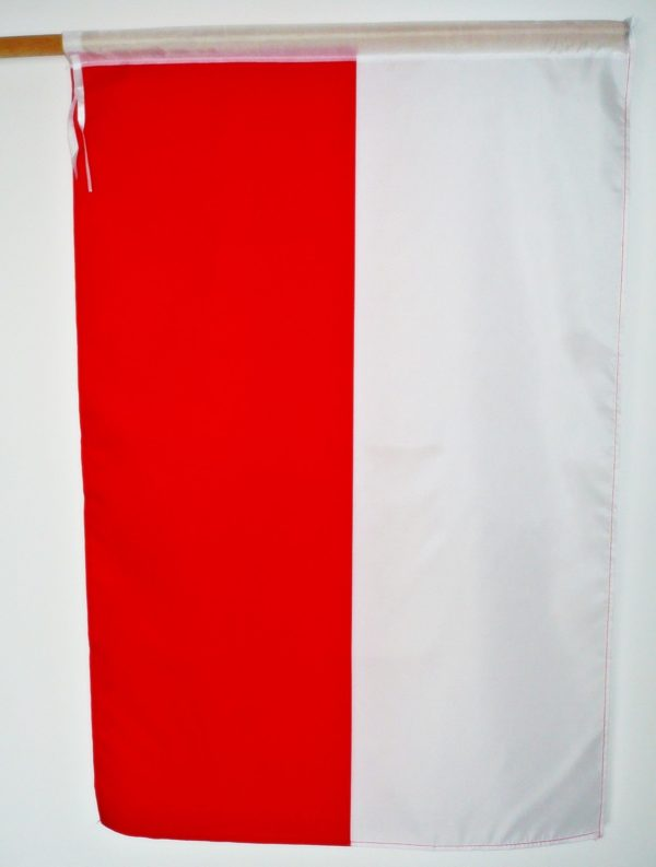 FLAGA POLSKI 70×115 tunel biały PROFIL