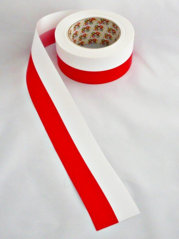 FLAGA POLSKI W TAŚMIE 6CM PROFIL