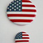 PRZYPINKA USA DUŻA I MAŁA