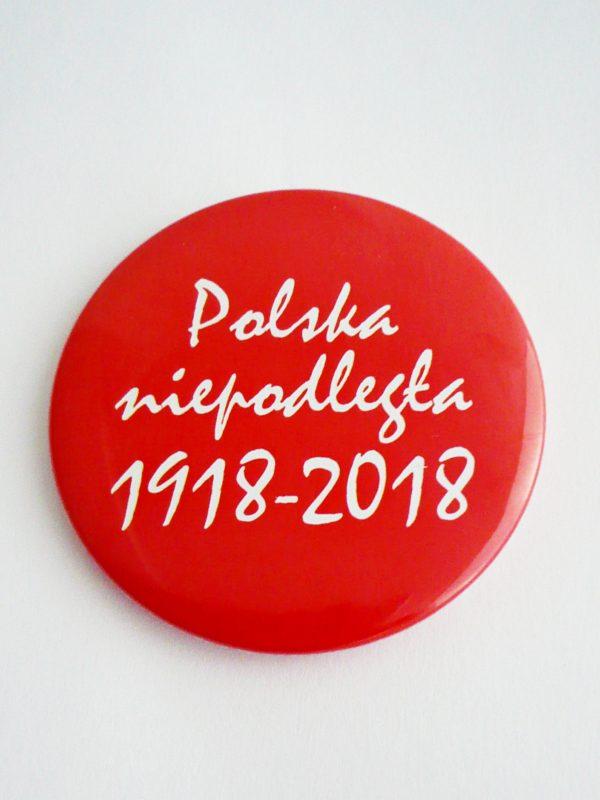 PRZYPINKA 100LECIE CZERWONA