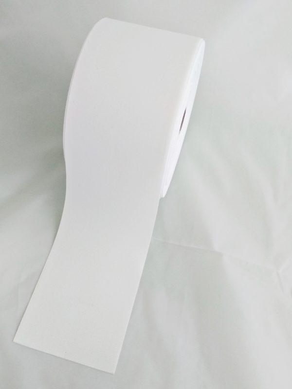 TAŚMA RYPSOWA 10cm BIAŁA 2