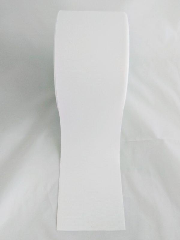 TAŚMA RYPSOWA 10cm BIAŁA 3